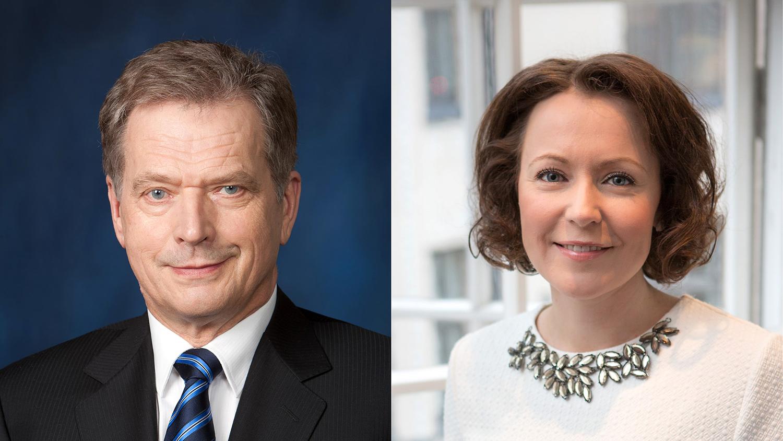Presidentti Niinistö ja rouva Haukio.