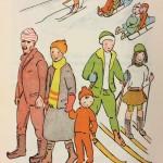 MLL houkutteli ihmisiä ulkoilemaan talvellakin.
